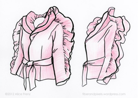 alice-frenz-sketch-of-Halston-dinosaur-jacket
