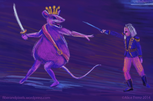 Marie's Nutcracker comes to life and fights the Mouse King