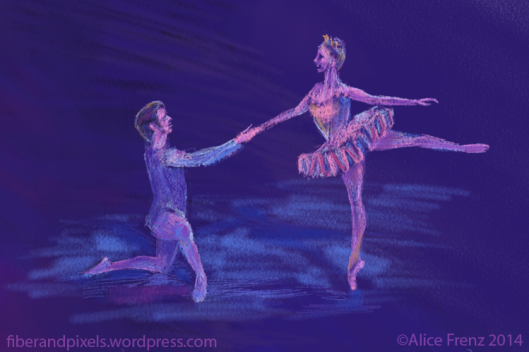 the Sugar Plum Fairy dances with her Cavalier