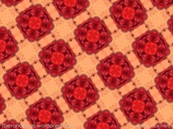 Peach and Red pattern by Alice Frenz