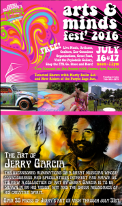 Jerry Garcia exhibition at Psylodelic Gallery Fur Peace Ranch