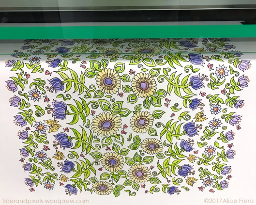 alice frenz lady beetles scarf being printed on silk 900x720-70