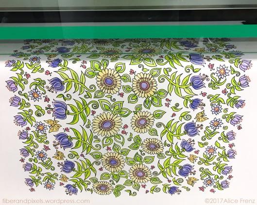 alice frenz lady beetles scarf being printed on silk 900x720-70