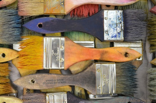 remnants of color washed paint brushes blue gold alice frenz 0189b 900x600-70